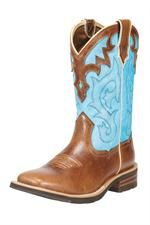 Ariat Coyote Brown/Blue Cowgirl Boots
