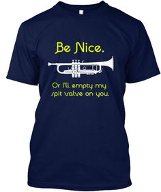 Show your Marching Band/Brass Section pride with this expressive t-shirt/hoodie! Great for middle school/high school/college bands!