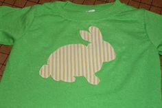 Easter applique - Easter shirt - bunny shirt - bunny applique - DIY Easter shirt - sewing tutorial - applique tutorial