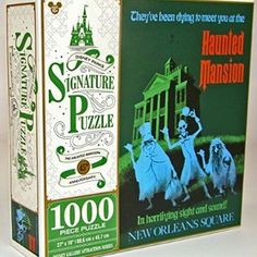 Disney Parks Exclusive Haunted Mansion 45th Anniversary Hitchhiking Ghosts Attraction Poster 1000 Pc. Puzzle