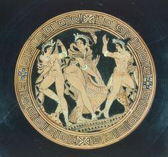 Kylix, detail. Red-figure pottery. Etruscan Civilization, 5th-4th Century BC. Artwork-location: Geneva, Musée D'Art Et D'Histoire (Art Museum)