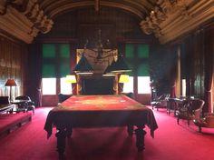 The snooker / billiard table room at Waddesdon Manor