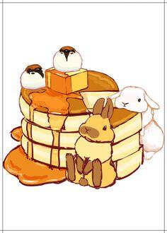 Embedded Cute Kawaii Animals, Cute Animal Drawings Kawaii, Cute Little Animals, Kawaii Art, Kawaii Drawings, Cute Drawings, Bunny Drawing, Bunny Art, Cute Bunny