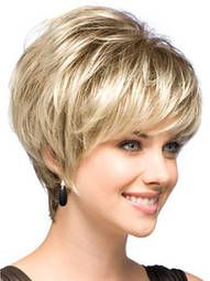 perruque courte dorée claire dégradée de