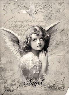 Vintage girl angel Digital collage p1022 free for personal use by Yvette Herrera
