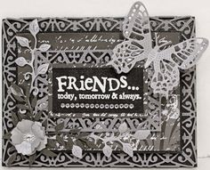 Cheery Lynn Designs Blog: Friends Card with Corina Finley