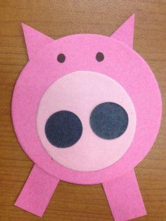 Piggie and Elephant---Piggie Shape Craft