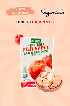 Snack sensibly with Sensible Food's Fuji Apple Crunch Dried Fruit, which is dried Fuji apples and nothing else. Fuji apples have a sweet, fresh juicy taste that's bound to be a crowd pleaser for sensible eaters of all ages. Light and crunchy bites of dried apples make this a perfect addition to hot or cold cereal, or just eat them by the handful.
