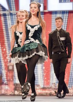 Irish dance trio Celtic Feet on Britain's Got Talent in2011.