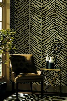 Designer Wallpaper  Echo Design Tailored Zebra Black-Beige Wallpaper