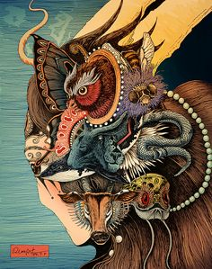 Impetuous world life by Rlon Wang #illustration #drawing