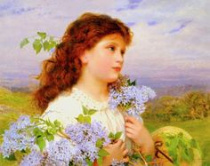 Sophie Gengembre Anderson – The Time Of The Lilacs – 1895 – Private Collection