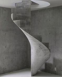 kazunori fujimoto - impossibly thin concrete stair in the house in akitsu, hiroshima 2016.  the architect snapchat ➡️ #nextarch #next_top_architects