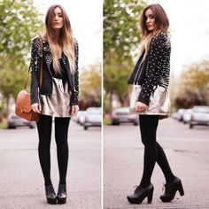 jaqueta de couro spikes