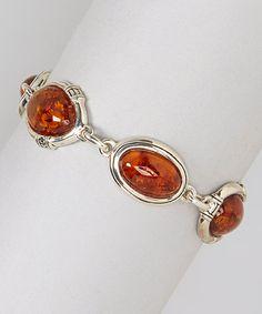 Amber & Sterling Silver Bracelet by Barse #zulily #zulilyfinds