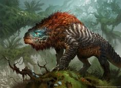 New digital art fantasy animals rpg Ideas Concept Art Alien, Monster Concept Art, Creature Concept Art, Creature Design, Mythical Creatures Art, Alien Creatures, Mythological Creatures, Magical Creatures, Cute Fantasy Creatures
