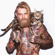 Beard. Tattoos. Cat.  These are a few of my favourite things!