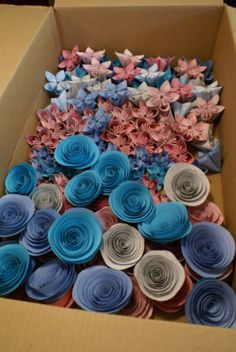 Origami Flowers! : wedding diy flowers flower alternatives origami flowers paper flowers DSC04709