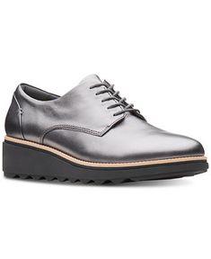 e261041799905 Clarks Collection Women s Sharon Noel Platform Oxfords - Flats - Shoes -  Macy s