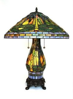 Tiffany Style Yellow Dragonfly Table Lamp with Lighted Base by Serena D'italia, http://www.amazon.com/dp/B005X9PUHQ/ref=cm_sw_r_pi_dp_R2u1qb0MT4SWR