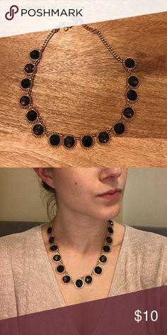 Black Jewel Necklace Adjustable backing Jewelry Necklaces