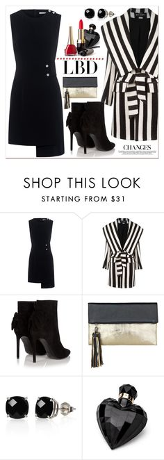 """Little Black Dress"" by zon-vito ❤ liked on Polyvore featuring Finders Keepers, Balmain, Yves Saint Laurent, BeckSöndergaard, Belk & Co. and Lipsy"