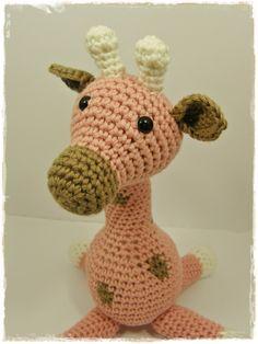 Amigurumi Animal Giraffe Baby Toy Rattle  organic by ByMarika I need this for Carley!