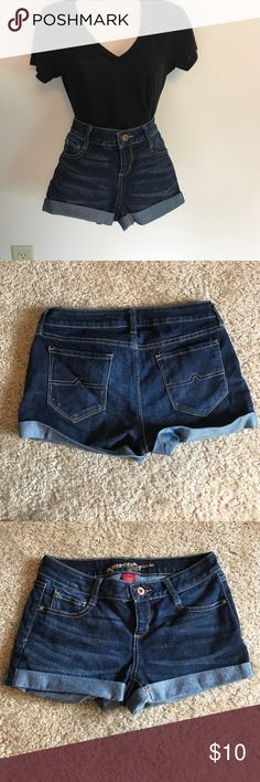 Dark wash jean shorts. Never worn! NWOT Arizona Jean Company Shorts Jean Shorts