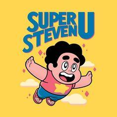 """Super Steven U"" by Minilla is $10 today at ShirtPunch.com (10/10). #tshirt #StevenUniverse #SuperMarioBros #SMB3 #VideoGames #Gaming"