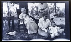 Old Woman Knitting in Chair with Baby Antique Vintage Photographic Negative | eBay