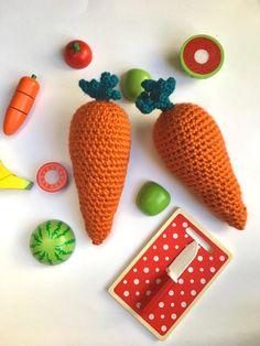 Crochet carrot toy  crochet carrot newborn prop  toddler
