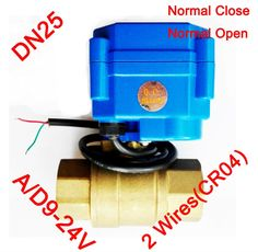 """28.13$  Watch now - http://alio6x.shopchina.info/1/go.php?t=1940128833 - """"1"""""""" Brass electric actuator valve, AC/DC9-24V morotized valve 2 wires (CR04), DN25 Mini Electric valve with spring return"""" 28.13$ #aliexpressideas"""