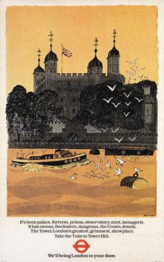 """""""Tower of London"""" poster for London Transport by Robert Tavener"""