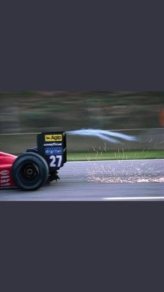 Humid air compressed sooo hard it turns into steam. Ferrari Racing, Ferrari F1, F1 Racing, Model Cars Building, Gilles Villeneuve, Formula 1 Car, Motosport, Supersport, Indy Cars