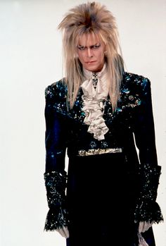 Bowie as Jareth, dressed for the ballroom scene in Labyrinth, 1986