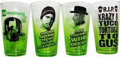 AMC Breaking Bad Green Fade 4pk of Pint Glasses - http://breakingbad.giftspara.me/2014/08/23/amc-breaking-bad-green-fade-4pk-of-pint-glasses/