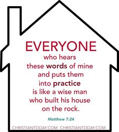 Is your foundation built on THE ROCK?