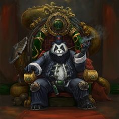 Panda by Tony Sart on ArtStation. Art Vampire, Vampire Knight, Vintage Mermaid, Mermaid Art, Dark Fantasy Art, Fantasy Artwork, Pandaren Monk, Panda Sketch, Tattoo Samurai
