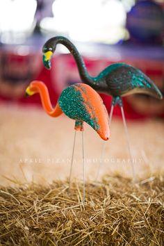 glamping flamingos // sadie robertson's redneck redcarpet party by the junk gypsies