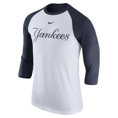 83d569dfc Men s New York Yankees Nike White Legend 1.7 3 4-Sleeve Raglan Performance  Shirt
