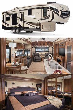 caravan luxury Thrilling This Luxury Rv Is Basically A Palace On Wheels, Big RVs have lots of storage. You could live very comfortably within this RV for quite some time, given its enormous dimensions and luxury fittings. Luxury Campers, Luxury Motorhomes, Rv Motorhomes, Luxury Rv Living, Ski Nautique, Grand Design Rv, 5th Wheel Camper, Luxury Van, Rv Interior