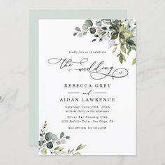 Succulent Wedding Invitations, Monogram Wedding Invitations, Classic Wedding Invitations, Watercolor Wedding Invitations, Wedding Envelopes, Custom Invitations, Invitation Cards, Invitation Templates, Shower Invitation