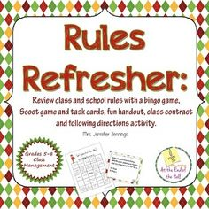 Fun activities for reviewing class and school rules. Can be used any time of…