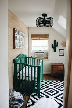 Cactus Nursery Reveal #nurseryideas #babynursery #babynurseryneutral