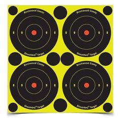 Birchwood Casey Shoot-N-C Target, Round Bullseye, 3 inch, 48 Targets