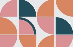 Create a stylish retro theme in your space with this pink retro geometric wallpaper, a unique design full of colour. Buy now with fast & FREE UK delivery! Geometric Wallpaper Murals, Retro Wallpaper, Photo Wallpaper, Geometric Art, Standard Wallpaper, Normal Wallpaper, How To Hang Wallpaper, Textile Pattern Design, Surface Pattern Design