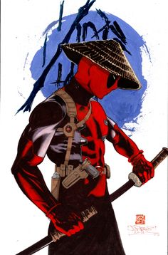 #Deadpool #Fan #Art. (Deadpool Samurai) By: James Pascoe. (THE * 5 * STÅR * ÅWARD * OF: * AW YEAH, IT'S MAJOR ÅWESOMENESS!!!™) ÅÅÅ+