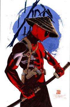 #Deadpool #Fan #Art. (Deadpool Samurai) By: James Pascoe. (THE * 5 * STÅR * ÅWARD * OF: * AW YEAH, IT'S MAJOR ÅWESOMENESS!!!™) ÅÅÅ+