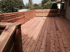 Image result for horizontal cedar rails on deck