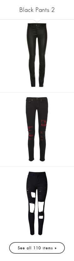 """""""Black Pants 2"""" by liddy-white ❤ liked on Polyvore featuring pants, bottoms, jeans, trousers, skinny trousers, zip pants, leather zipper pants, real leather pants, long pants and black"""
